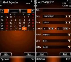 Alert Adjuster Symbian Mobile Phone Application