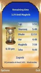 Prayer Times Symbian Mobile Phone Application