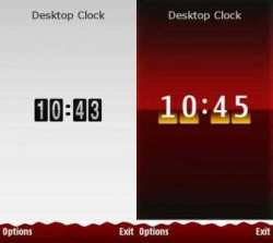 Biggzys Desktop Clock widgets Symbian Mobile Phone Application
