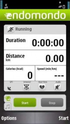 Endomondo Sports Tracker Symbian Mobile Phone Application