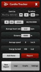 Cardio Tracker Symbian Mobile Phone Application