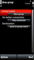 SmartConnect Symbian Mobile Phone Application