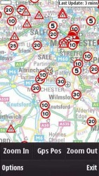 UK Traffic Client Symbian Mobile Phone Application