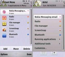 Instant Menu Trial Symbian Mobile Phone Application