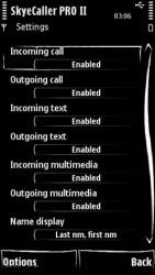 Skye Caller Pro Symbian Mobile Phone Application
