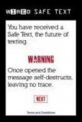 Safe Text Java Mobile Phone Application