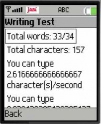 Writing Speed Test