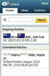 Yahoo! Cricket Java Mobile Phone Application