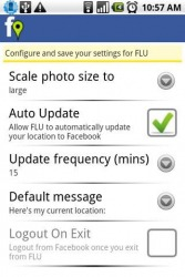Facebook Location Updater Android Mobile Phone Application