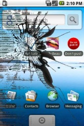 Android Mobile Phone Application: Cracked Screen