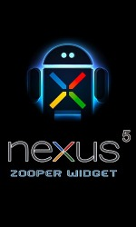 Nexus 5 Zooper Widget Android Mobile Phone Application
