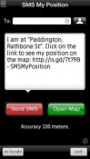 SMS My Position Trial Java Mobile Phone Application