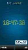 Blue Lagoon Clock Symbian Mobile Phone Application