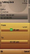 Talking Clock Lite Application for Symbian Mobile Phone
