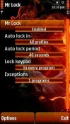 Mr Lock Symbian Mobile Phone Application