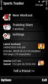 Nokia Sports Tracker Symbian Mobile Phone Application