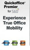 Quick Office Premier For S60 Symbian Mobile Phone Application