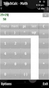 TouchCalc - Math Application for Symbian Mobile Phone