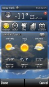 Accu Weather Symbian Mobile Phone Application