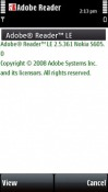 Adobe Reader Symbian Mobile Phone Application