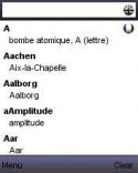 Dictionary FRENCH - ENGLISH offline Samsung F500 Application