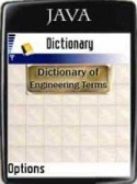 Dictionary of Engineering Java Mobile Phone Application