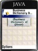 Business Dictionary and Glossary Java Mobile Phone Application