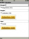 Health Calculator Application for Java Mobile Phone