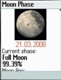 Moon Phase Java Mobile Phone Application