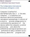 Q-Dictionary Java Mobile Phone Application