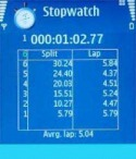 StopWatch Application for Java Mobile Phone