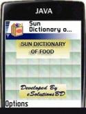 Sun Dictionary of Food Application for Java Mobile Phone