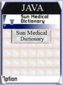 Sun Medical Dictionary Application for Java Mobile Phone