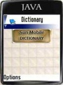 Sun Mobile Dictionary Application for Java Mobile Phone