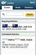 Yahoo! Cricket Java Mobile Phone Application