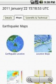 Earthquake Viewer Android Mobile Phone Application