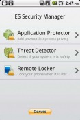 ES Security Manager Samsung Galaxy S21 Ultra 5G Application