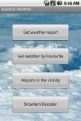 Aviation Weather with Decoder Android Mobile Phone Application