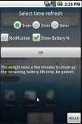 Battery Diff Widget Nokia 9 PureView Application