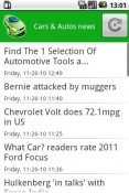 Cars & Autos news Android Mobile Phone Application