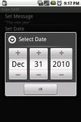 Days Until Application for Android Mobile Phone