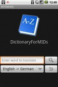 DictionaryForMIDs Android Mobile Phone Application