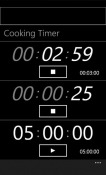 Cooking Timer Windows Mobile Phone Application
