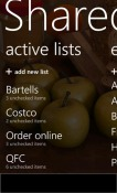 Shared Shopping List Windows Mobile Phone Application