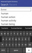 Advanced English Dictionary Windows Mobile Phone Application