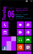 Simple Calendar Nokia Lumia 720 Application
