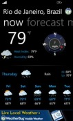 WeatherBug Dell Venue Pro Application