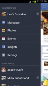 Facebook Pages Manager Application for Android Mobile Phone