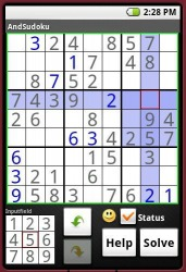 AndSudoku Android Mobile Phone Game