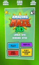 Amazing Maze 3D Deluxe Android Mobile Phone Game